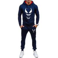 2019 New Hot selling Men's Brand Tracksuit Hoodie Cartoon Cute Venom 2019 Spring and Autumn Men's Sweatshirt Thin Hoodie Set