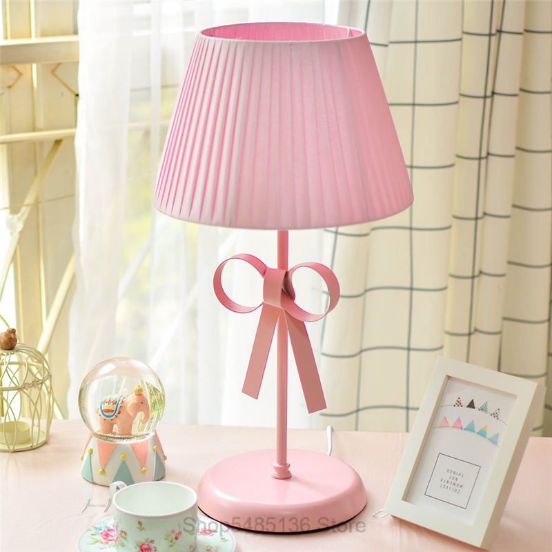 Nordic Pink Princess Table Lamps For Living Room Bedside Desk Lamp Girls Kids Bedroom Lights Indoor Wedding Decor Stand Light Led Table Lamps Aliexpress