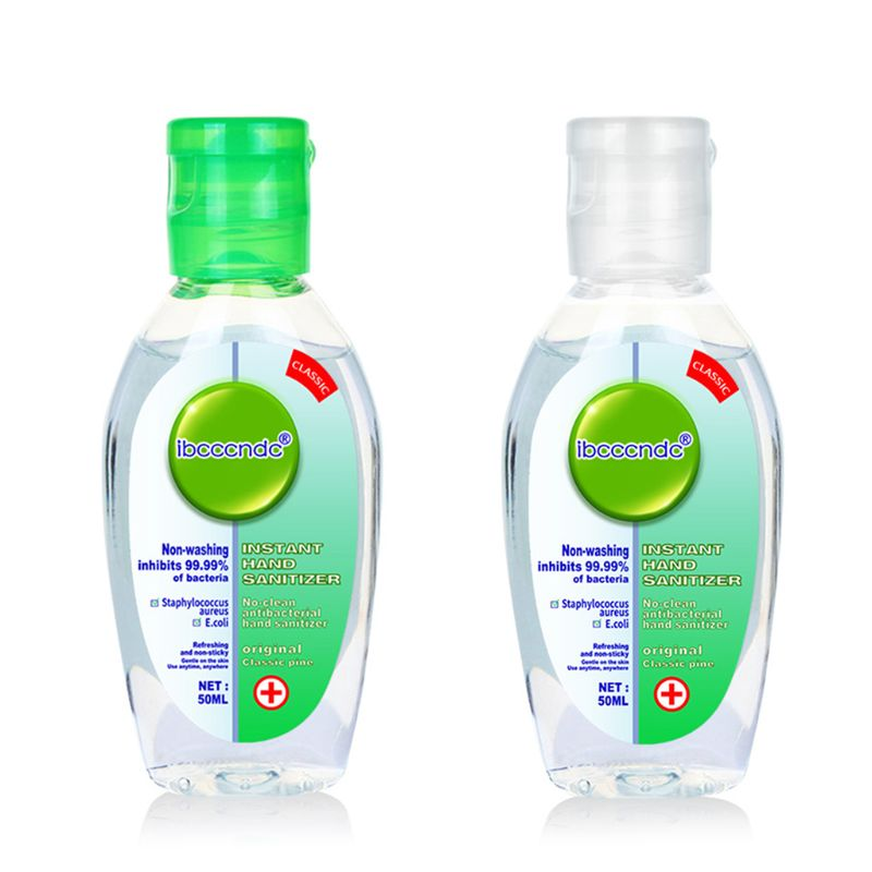 50ml Travel Portable Mini Hand Sanitizer Anti-Bacteria Moisturizing Fruit-Scente Green Or White Color