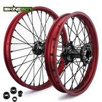 BIKINGBOY 21 /19 / 18 Front Rear Wheels Rims Hubs For Honda CRF 250 R 2004 2013 CRF 450 R 2002 2012 CR 125 250 R 2002 2013