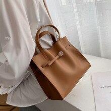Solid Color Pu skórzane torby na ramię dla kobiet 2020 spadek torebki o dużej pojemności i torebki pas projekt pani podróży ręcznie torba