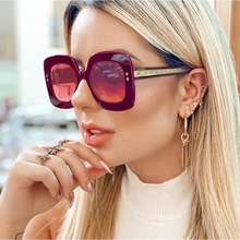 AOZE 2020 new gradient sunglasses men's fashion glasses brand