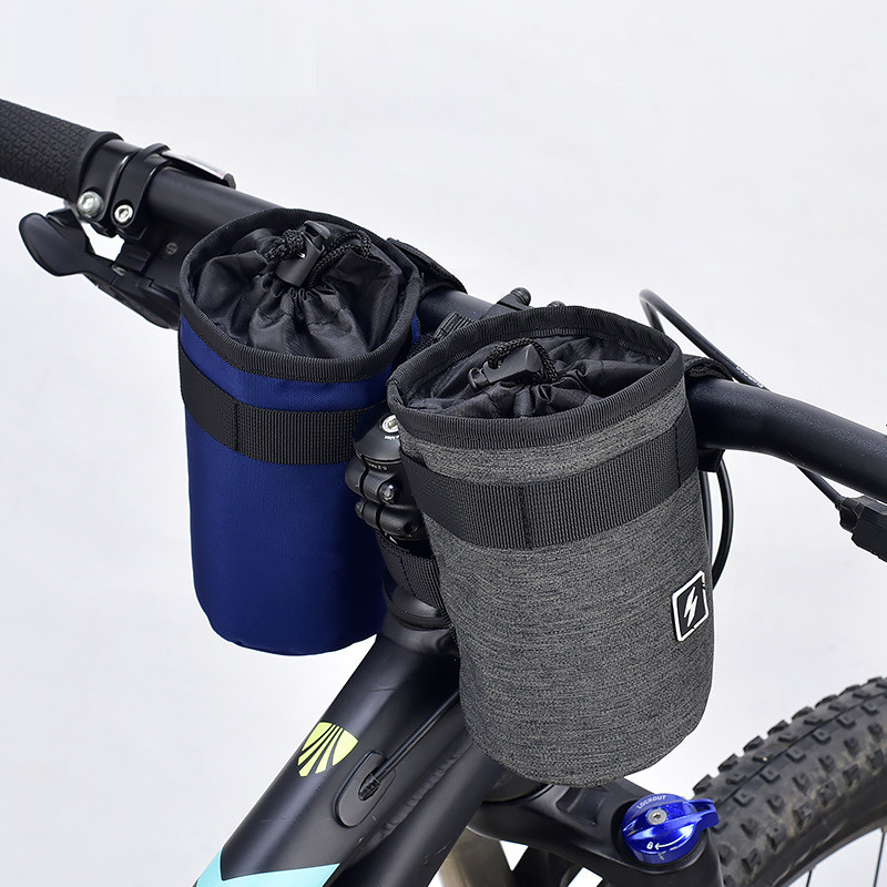 Bicycle Water Bottle Holder Insulated Bag  Winter Cooler Bags Portable Cycling Handlebar Bike Stem