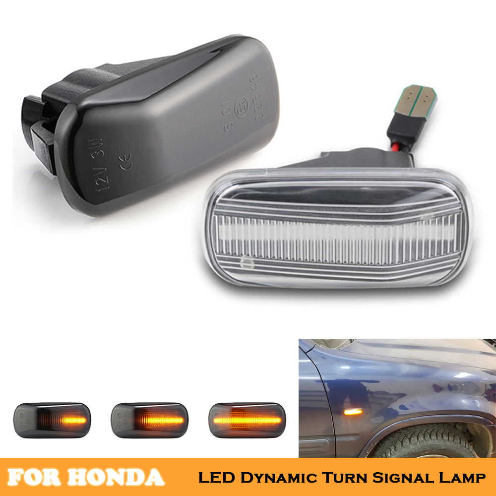 car Dynamic led turn indicator signal repeator lights for Honda Accord Civic City CR-V Fit Jazz HR-V Integra DC5 Odyssey Stream