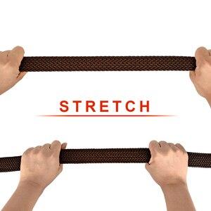 Image 5 - Drizzte Plus Size 130 150 160 170 180 190Cm Brown Braid Geweven Elastische Stretch Riem Heren Voor Grote En tall Man Hoge Kwaliteit