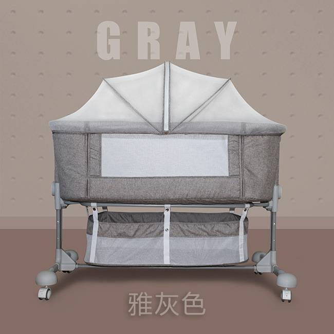 845 Crib Joint Bed Portable Folding Baby Bed Newborns Baby Bedside Bed Bassinet Baby Bed