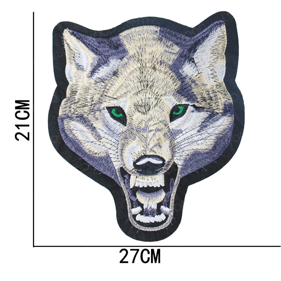 Large Tactical Animal Patch Feather Tiger Wolf Dragon Armed Badge Military Patch Embroidered Emblem Applique for Jeans Clothings