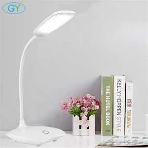 Светодиодный настольный светильник, Складная Настольная лампа с регулируемой яркостью DC5V, USB питание, Настольный светильник 6000K, Ночной све...