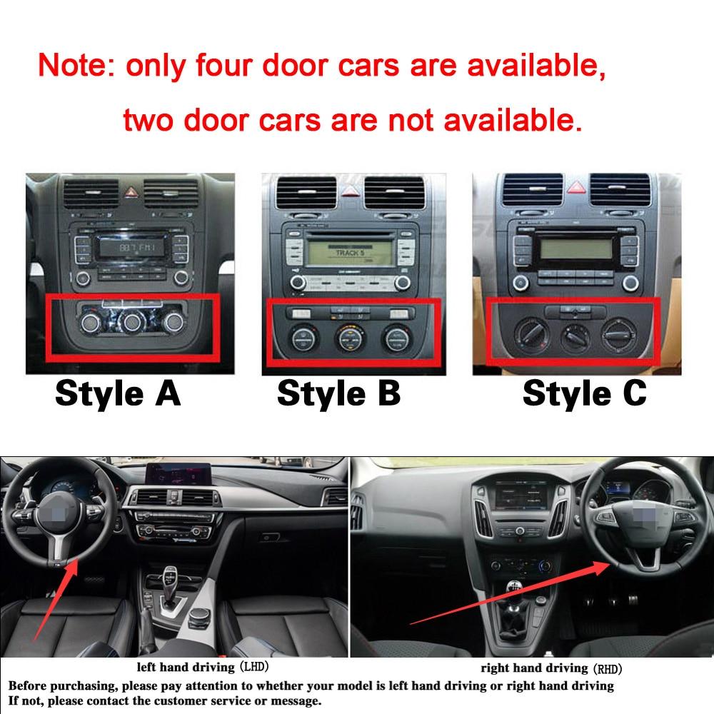 lowest price Car-Styling Carbon Fiber Car Interior Center Console Color Change Molding Sticker Decals For Volkswagen VW Golf 5 GTI MK5 4 door