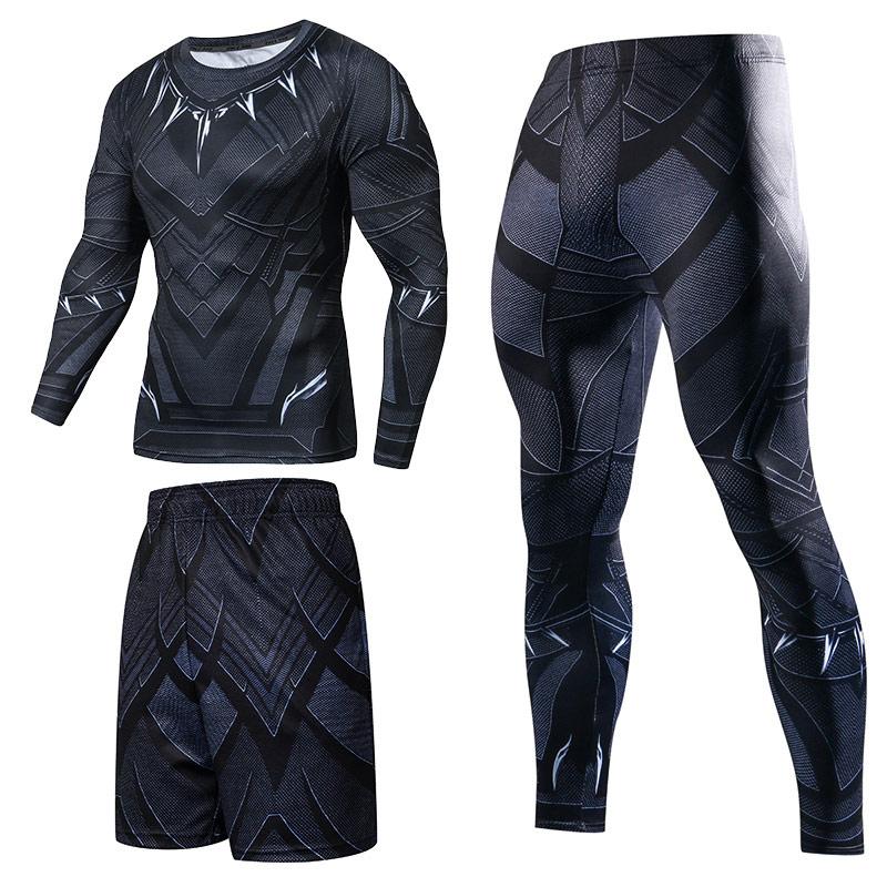 Мужская спортивная одежда с супергероем компрессионное спортивные костюмы быстросохнущая одежда спортивный костюм для бега тренировочные спортивные костюмы для фитнеса|Спортивные костюмы|   | АлиЭкспресс
