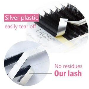 Image 5 - LAGEE extensiones de pestañas individuales, J B C CC D, rizado de visón falso, suaves, herramientas de maquillaje