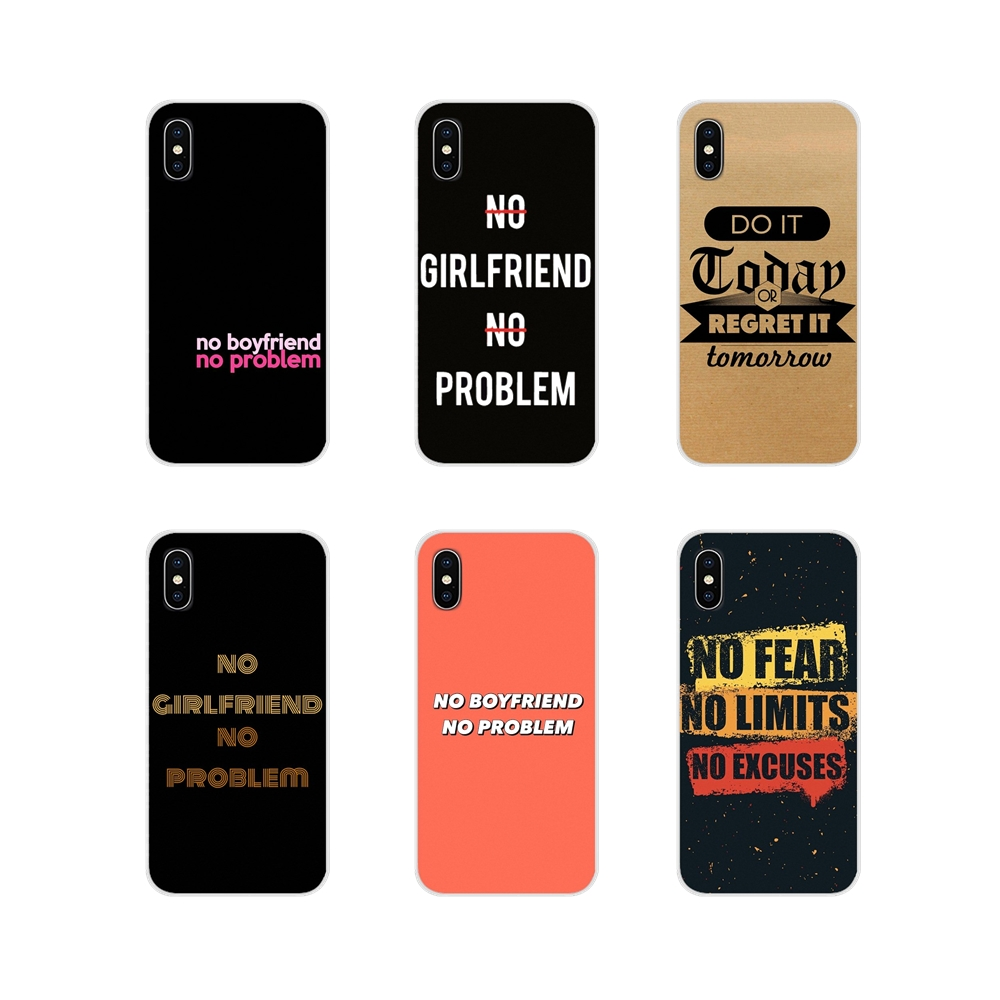 No Boyfriend No Problem letter For HTC One U11 U12 X9 M7 M8 A9 M9 M10 E9 Plus Desire 630 530 626 628 816 820 830 Soft TPU Covers image