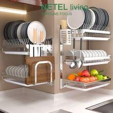 Стеллаж для кухонной посуды подвесная сушилка рабочая полка