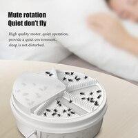 Artefatos armadilha de insetos armadilha de mosca isca elétrica eficaz voar dispositivo de pragas inseto coletor automático flycatcher armadilha captura