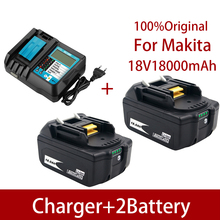 BL1860 Rechargeable Battery 18 V 18000mAh Lithium ion for Makita 18v Battery BL1840 BL1850 BL1830 BL1860B LXT 400+charger
