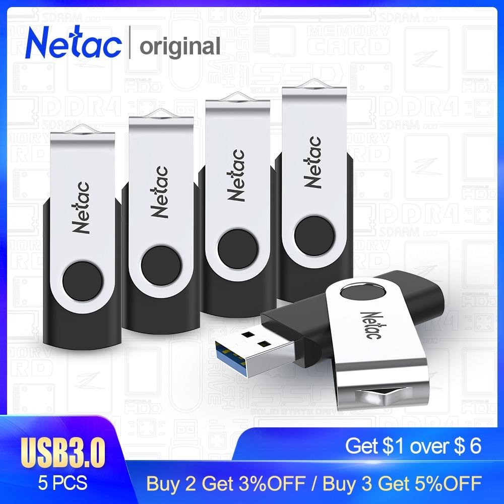 Netac USB Flash Drive Disk 8GB 16GB Pen Drive Tiny Pendrive Memory Stick Storage Device Dropship For Computer Phone 5PCS 3.0 2.0