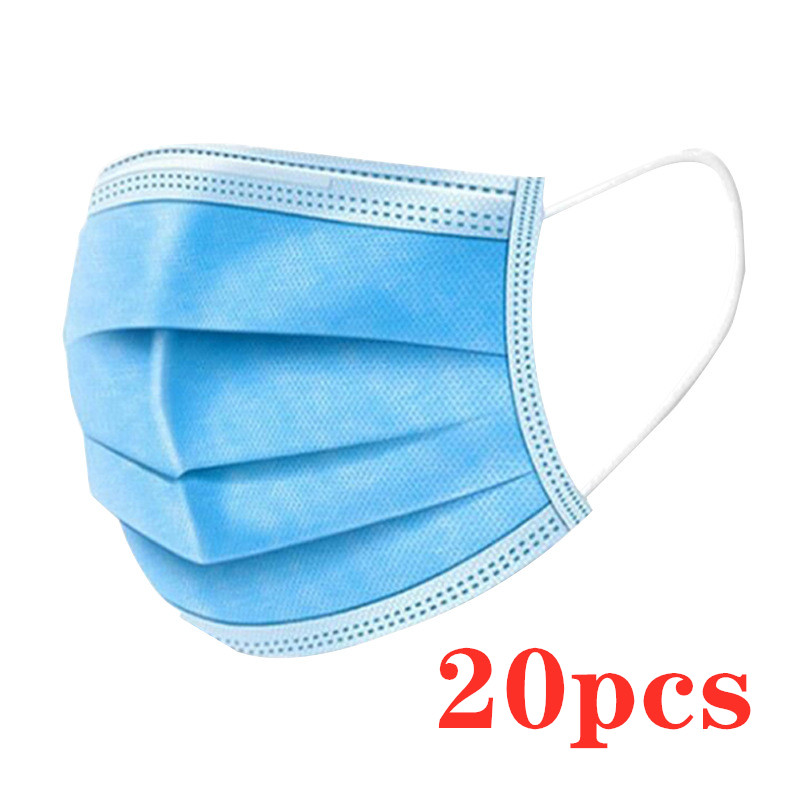 20pcs Disposable Protective Mask For Maternity 3PLY Anti-Dust Face Mask