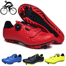 Cycling-Shoes MTB Ciclismo Self-Locking Racing-Sapatilha Women Red New Male Professsional