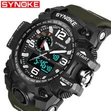 SYNOKE New Brand Fashion Watch Men G Style Waterproof Sports Military Watches Shock Luxury Analog Digital