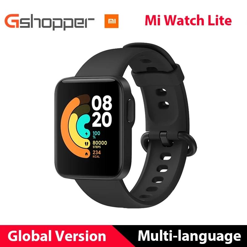 "Xiaomi Mi Watch Lite GPS Mi Smart Watch Global Version Smartwatch 2020 1.4"" TFT LCD Screen Fitness Heart Rate Sleep Monitor Band"