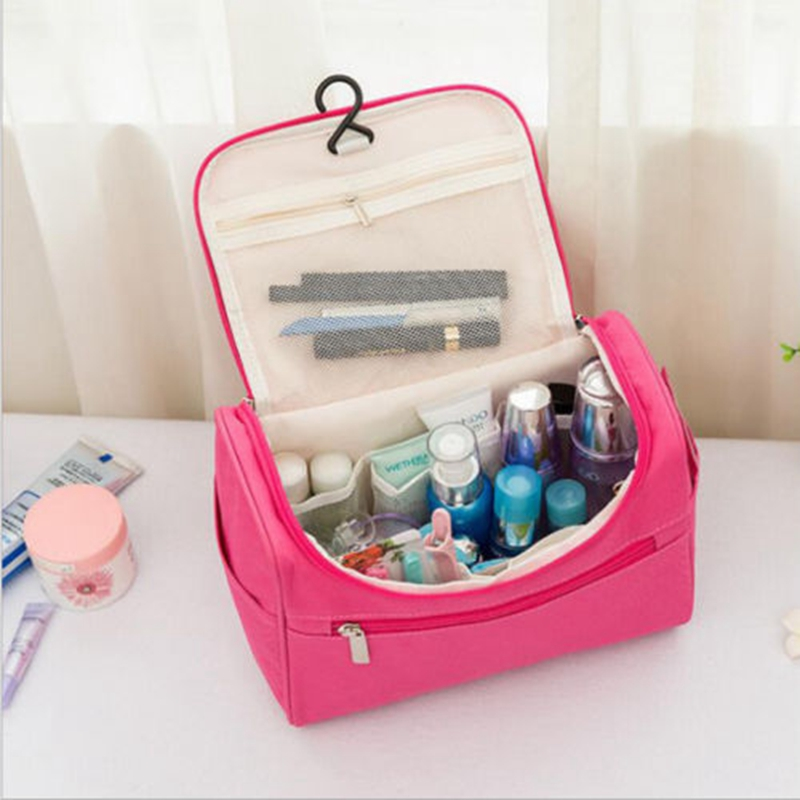 Professional Large Makeup Bag Cosmetic Case Storage Handle Organizer Travel Kit Toilet Hanging  Oiletries Makeup Organizer