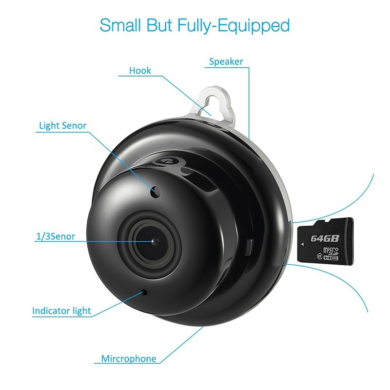 1080P IP Baby Monitor Camera With Night Vision CCTV Cam For Your Child Safety 5