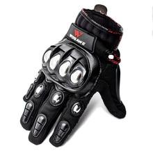 WOSAWE 터치 스크린 스포츠 오토바이 장갑 남자 PU 가죽 Windproof 착용 할 수있는 비 슬립 오프로드 MTB Motocross 장갑