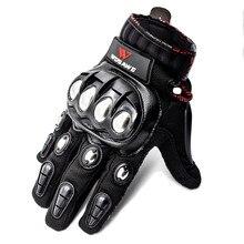 Wosaweタッチスクリーンスポーツオートバイ手袋男性puレザー防風ウェアラブルノンスリップオフロードmtbモトクロス手袋