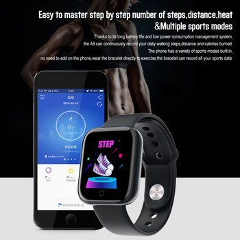 D20 Pro Smart Watch Y68 Bluetooth Fitness Tracker Sports Watch Heart Rate Monitor Blood Pressure Smart Bracelet for Android IOS 5