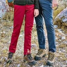 CAMEL Women Men Outdoor Hiking Pants Waterproof Windproof Warm Fleece Inner Softshell Trousers Casual Tactical Trekking Pants