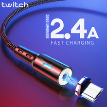 Twitch Micro USB Magnetic USB Cable For Samsmung S7 Xiaomi Microusb Android Mobile Phone Magnet Charging Cable Micro USB Charger(China)