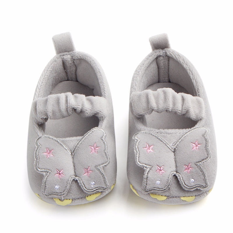 Baby Girls Shoes Infant Toddler Baby Shoes Girls Butterfly Pre Walker Soft Sole Toddler Shoes For 0-18M