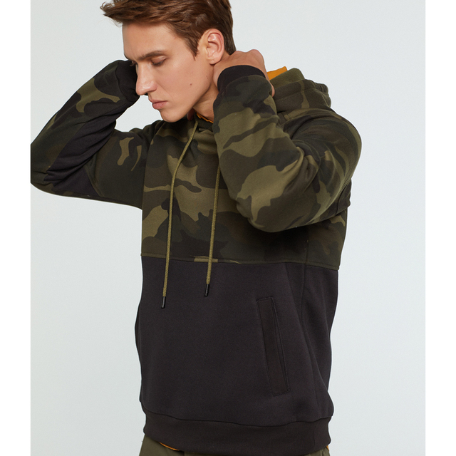 2019 Camouflage Hoodies Men Casual Print Hip Hoodie Streetwear Male Fashion Slim Full Sleeve Camo Pullover Man Hooded Sweatshirt