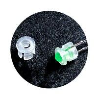 100 pcs 흰색 플라스틱 led 클립 홀더 케이스 스페이서 5mm 스루 홀 led 램프 베이스 등 & 조명 -