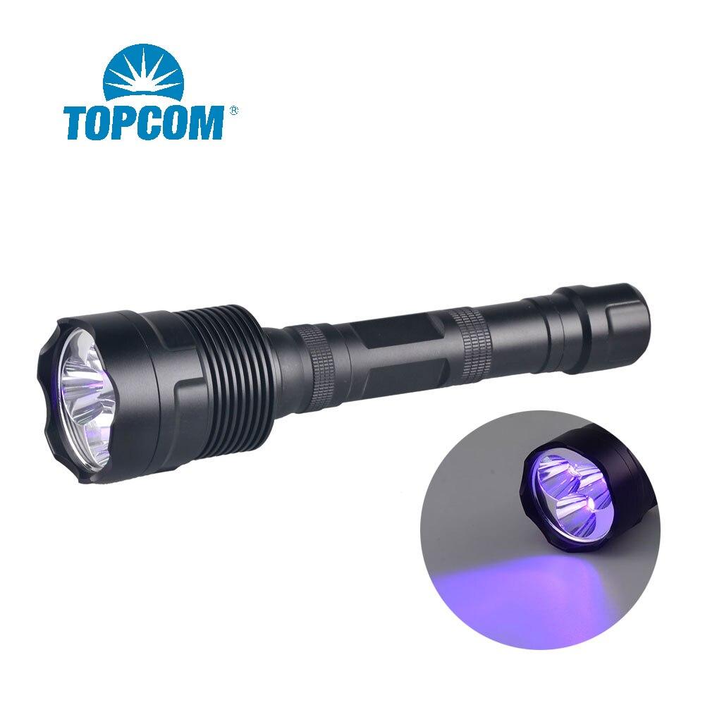 Фонарик Topcom, водонепроницаемый, 30 Вт, 365 нм, нм, черный свет, ультрафиолетовый, 3 светодиода, с черным фильтром ZWB2