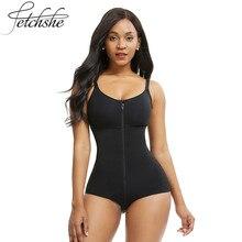 FETCHSHE Women's Slimming Underwear Bodysuit Body Shaper Waist Shaper Shapewear Postpartum Recovery Slimming Zip and Hook Co