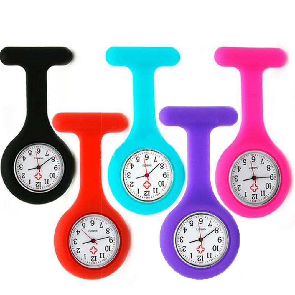 Pocket Watches Silicone Nurse Watch Brooch Tunic Fob Watch Doctor Medical Reloj De Bolsillo Reloj Enfermera