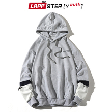Sweatshirts Mens Clothing Oversized Patchwork Fashions Women Kawaii Lappster-Youth Hooded