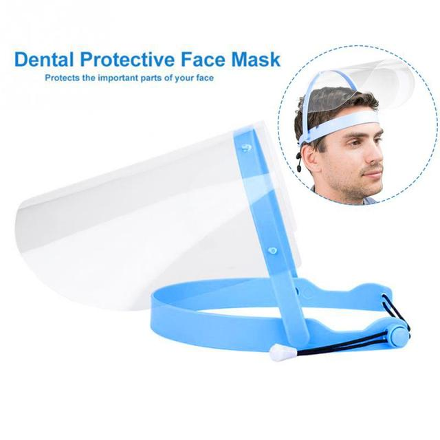 Anti Droplet Dust-proof Full Face Cover Mouth Mask Protective Visor Shield Face Shield Transparent Anti-foam Kitchen Accessories 1