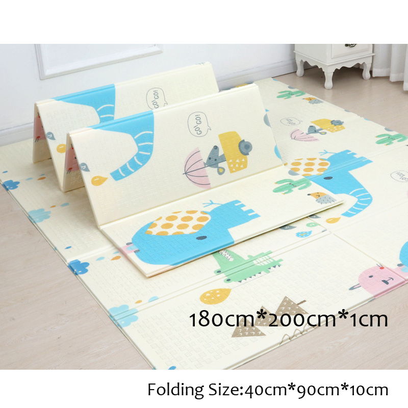 200*180cm Baby Play Mat Xpe Cartoon Puzzle Children's Mat Foldable Baby Climbing Pad Anti-skid Kids Rug Baby Soft Thick Game Mat
