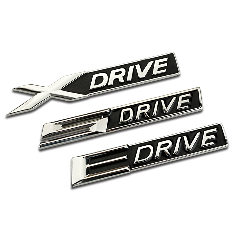 X <font><b>Drive</b></font> E <font><b>Drive</b></font> S <font><b>Drive</b></font> Badge <font><b>Emblem</b></font> Stickers 3D Metal Car Decoration Accessories For <font><b>BMW</b></font> E46 E60 E70 E36 F10 F30 E90 X1 X3 X6 image
