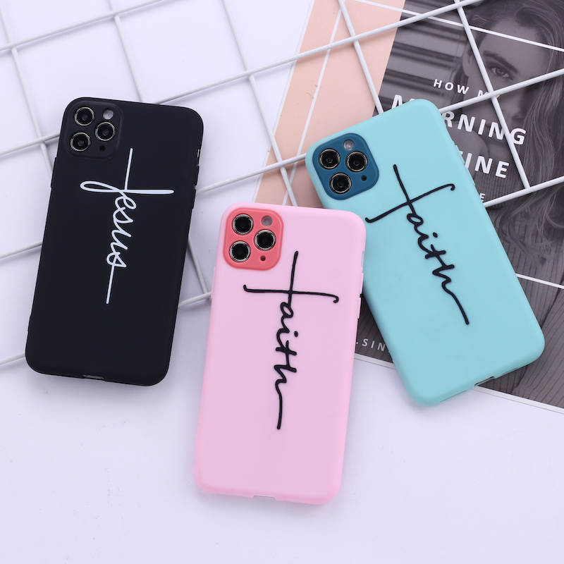 Jesus Faith Crucifix Cross Camera Protection Soft Silicone Phone Case Funda For iPhone 11 X XS XR Pro Max 6 7 7Plus 8 8Plus image