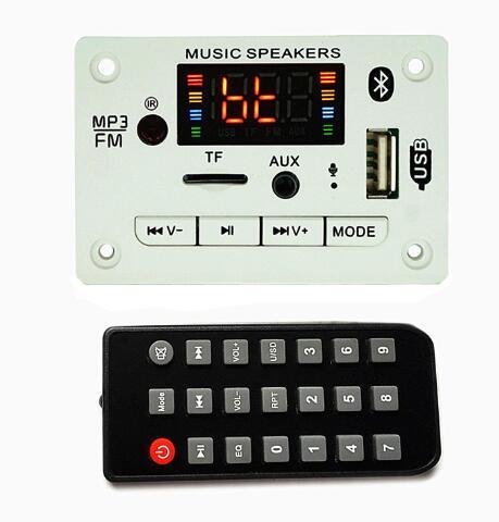New MP3 Decoder Decoding Board Module 12V Bluetooth 5.0 Car USB MP3 Player WMA WAV Support TF Card USB FM Remote Board Module|MP4 Player|   - AliExpress