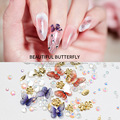 1 Box 3D Butterfly Nail Art Decorations Acrylic Alloy Metal Butterfly Jewelry Decors Tips Nails Manicure Accessorie Tool
