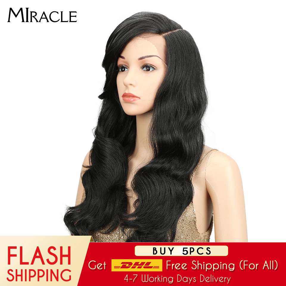 "Miracle 22"" Long Loose Wave Equal Ombre Glueless Heat Resistant Wig 180% Heavy Density Synthetic Wigs For Black Women
