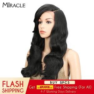 Image 5 - Miracle perruque synthétique à forte densité 180%, sans colle, à forte densité, sans colle, pour femmes noires