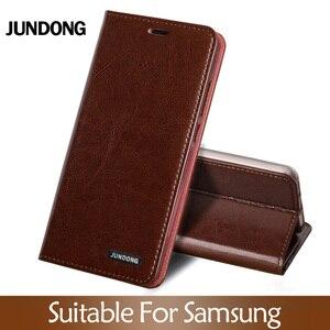 Image 1 - Etui z klapką do Samsung S7 krawędzi S8 S9 S10 20 Plus A50 A51 A70 A71 wosk z oliwek skóry pokrywa dla uwaga 10 lite 8 9 20 Ultra przypadku