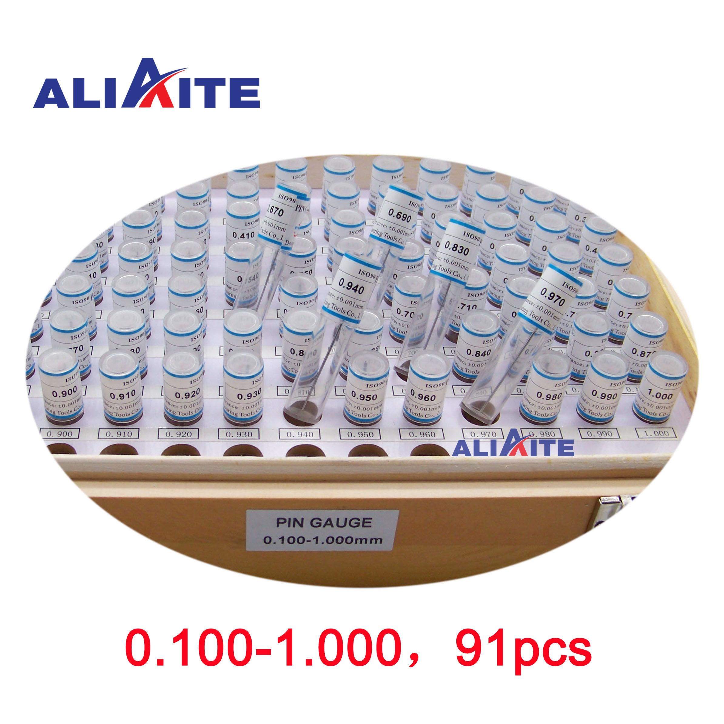 Conjunto de Calibre de Pino Passo: Pces Aliaite Pino Plug Gauge 0.100-1.000 0.0191