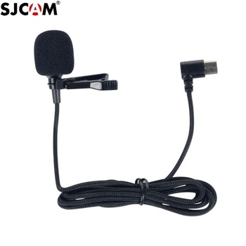 New Original SJCAM Series Accessories External Microphone with Clip Type C for SJ9 Max Strike /SJ8 Pro/Plus/Air Action Camera - sale item Camera & Photo