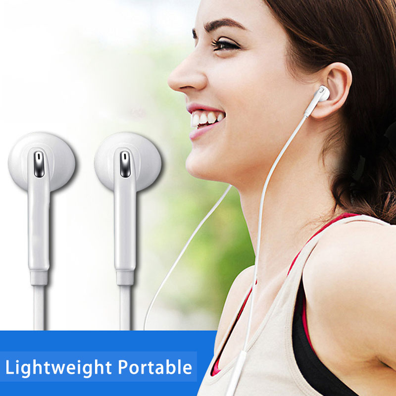 3.5mm In-Ear Wired Earphone Stereo Music Headphones Sport Running Headset With Mic Volume Control For Samsung S6 Xiaomi Mi9
